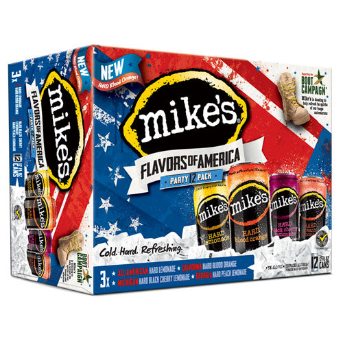 mikes hard lemonade mikes flavors of america variety 12pk 12oz cans