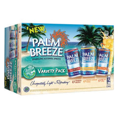 Palm Breeze Sparkling Alcohol Spritz Variety Pack (12pk 12oz cans)