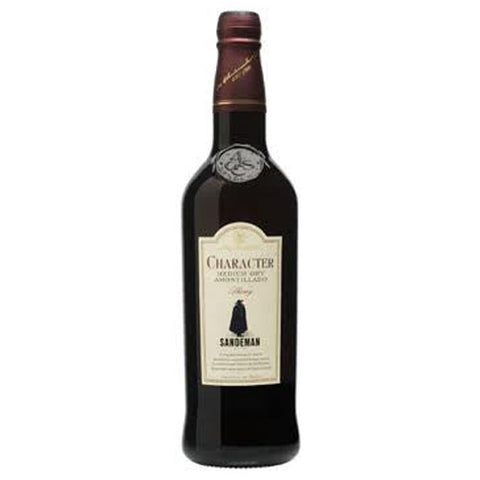 Sandeman Character Medium Dry Amontillado Sherry, Andalucia, Spain (750ml)