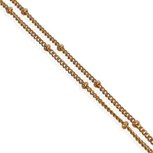 Load image into Gallery viewer, Trendy Gold Plated Coin Necklace Bobbled Chain