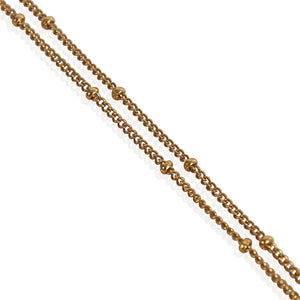 Trendy Gold Plated Coin Necklace Bobbled Chain
