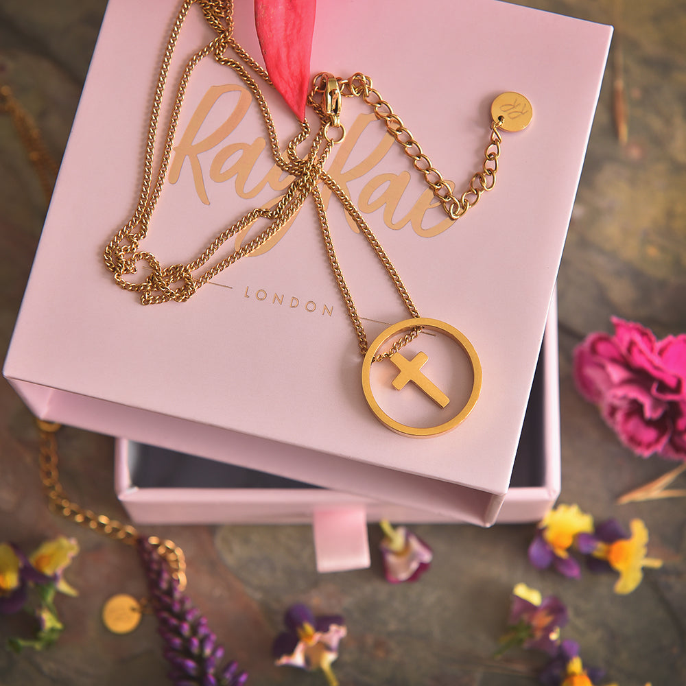 Cute Gold Plated Cross Necklace