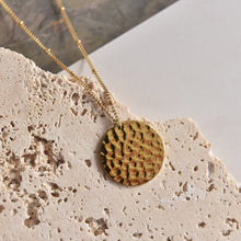 Load image into Gallery viewer, Aria, gold plated coin necklace
