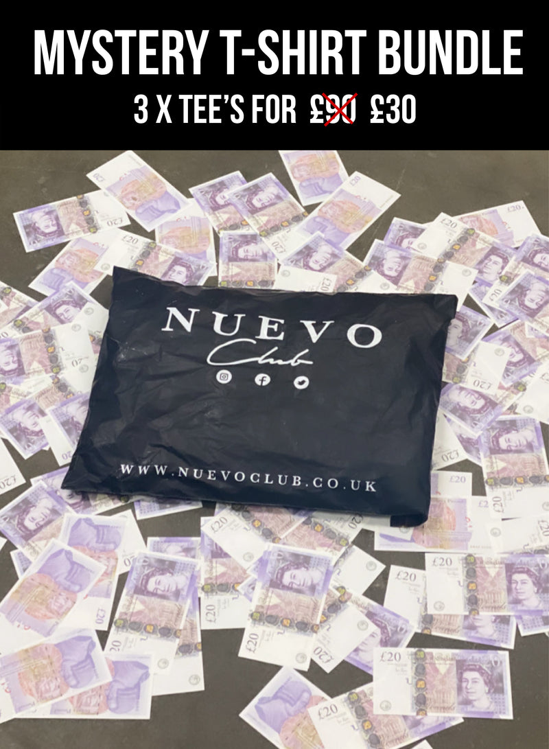 MYSTERY T-SHIRT BUNDLE (3 FOR £39.99)