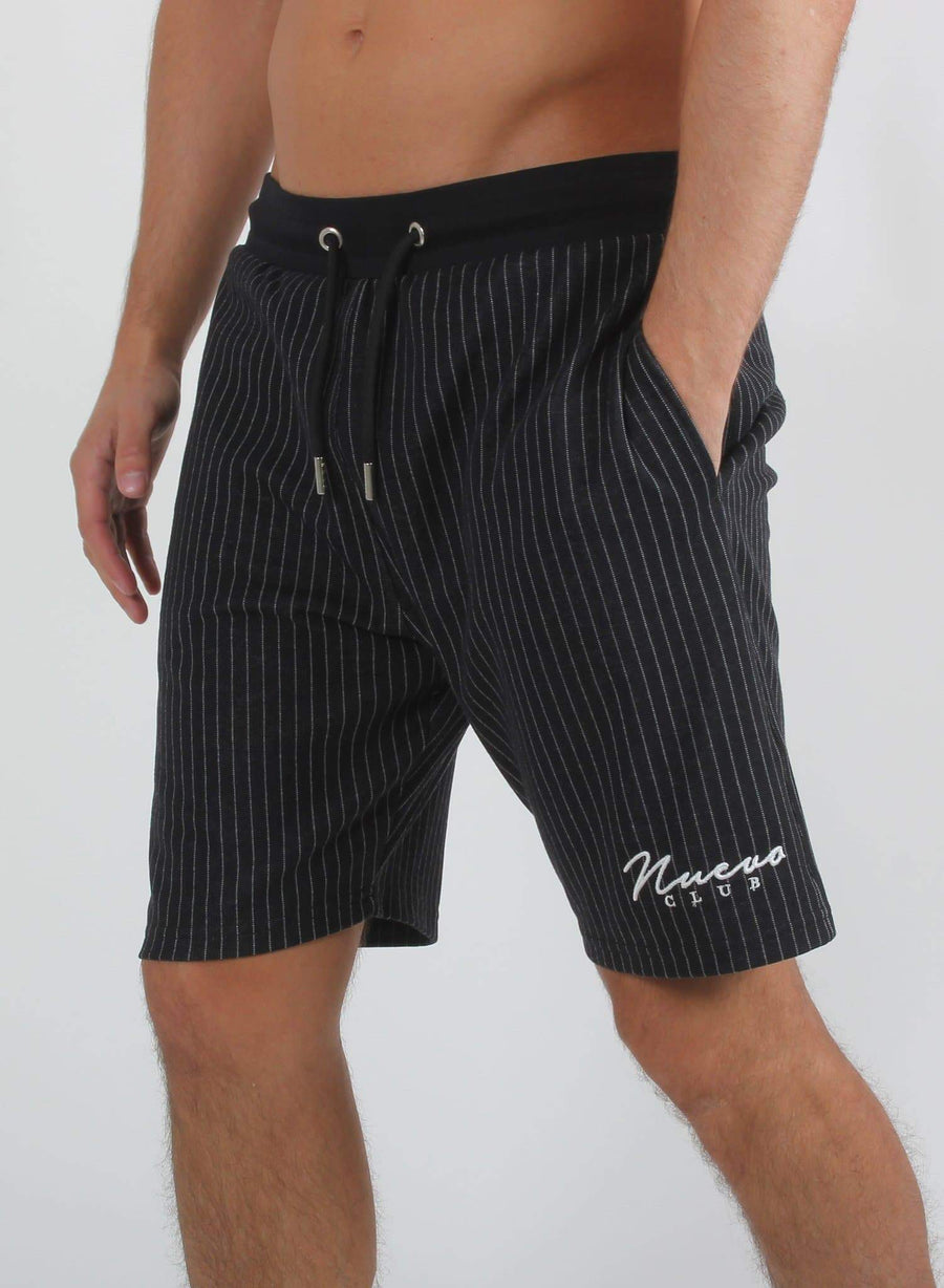 MORA PINSTRIPE SHORTS - BLACK