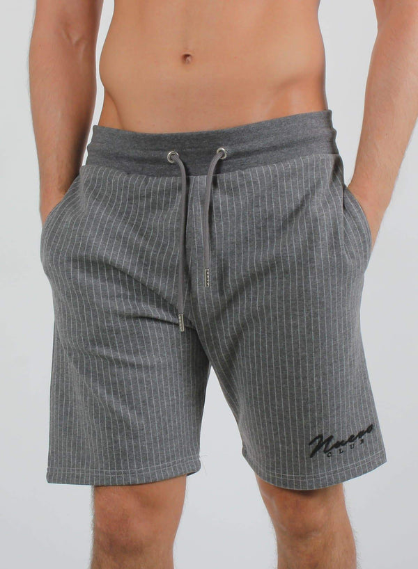 MORA PINSTRIPE SHORTS - GREY