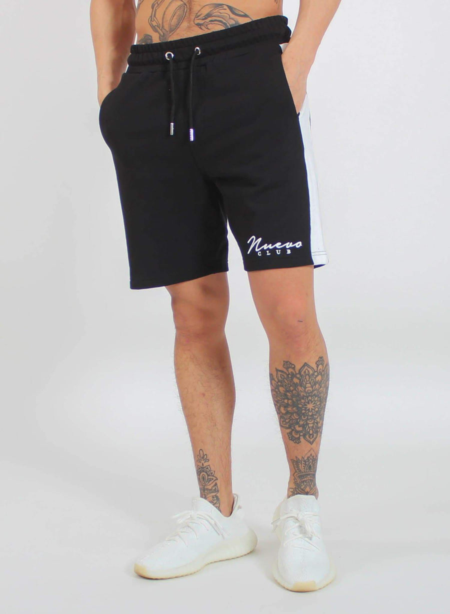 PANEL SHORTS - BLACK/WHITE