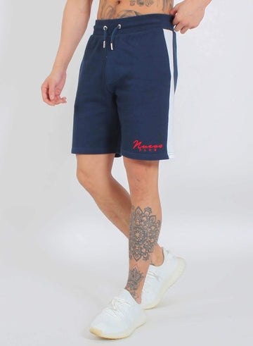 PANEL SHORTS - NAVY/WHITE