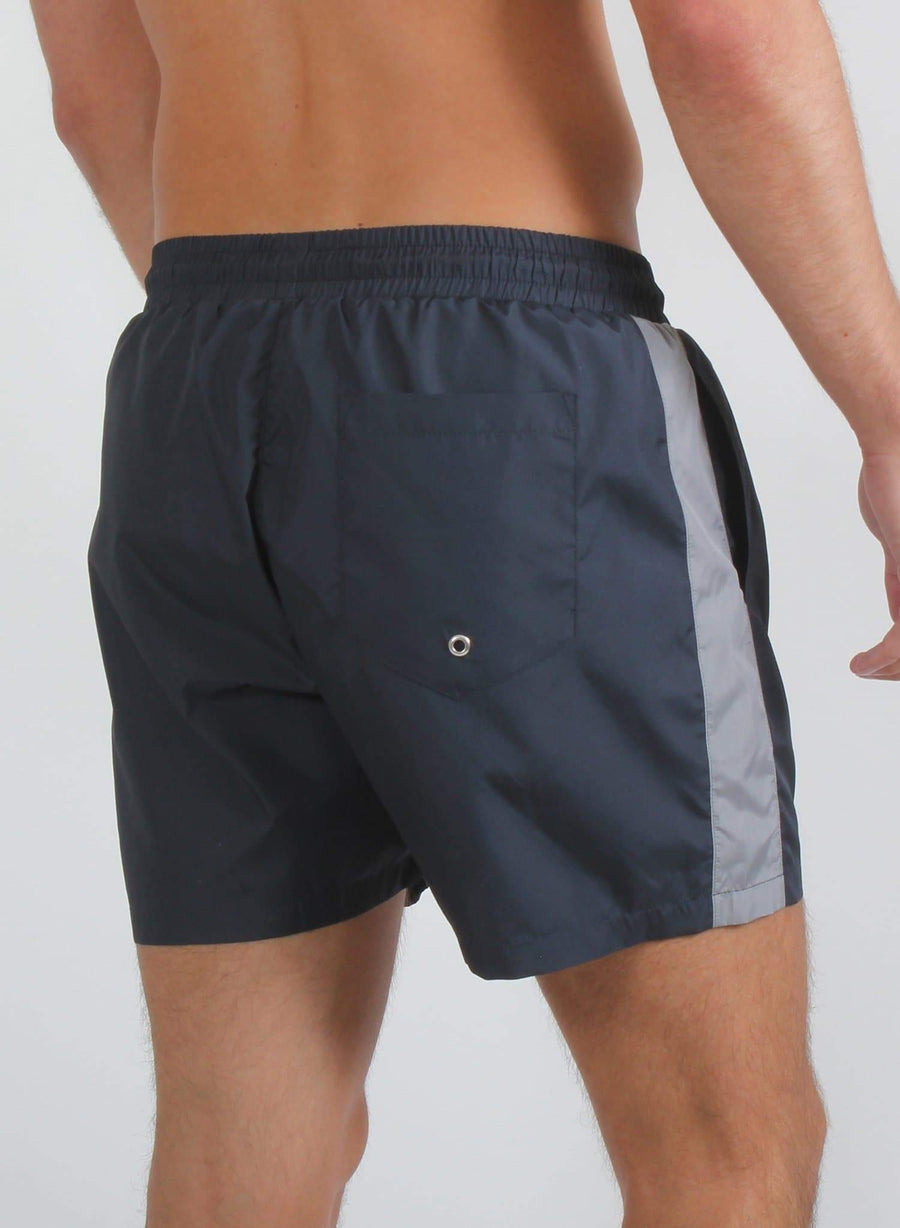 PANEL SWIM SHORTS - NAVY/GREY