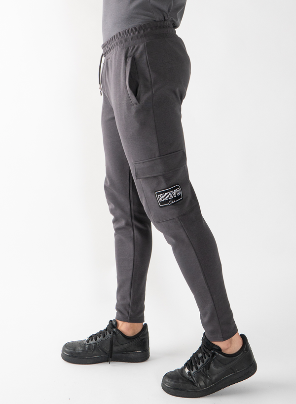 MORGAN CARGO PANTS - MAGNET GREY