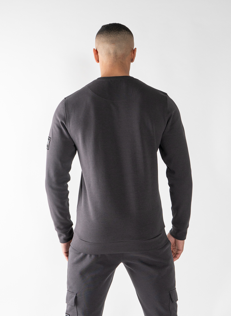 MORGAN SWEATSHIRT - MAGNET GREY