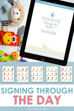 Load image into Gallery viewer, Signing Through the Day Bundle (Mealtime, Bedtime, Bath Time & Clothing)