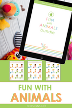 Load image into Gallery viewer, Fun with Animals Bundle (Animals, Farm Animals & Zoo Animals)