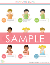 Load image into Gallery viewer, Custom Baby Sign Language Chart (Personalized with your baby's name & favorite signs!)