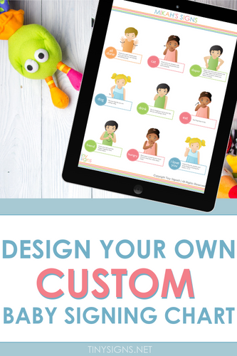 Custom Baby Sign Language Chart (Personalized with your baby's name & favorite signs!)
