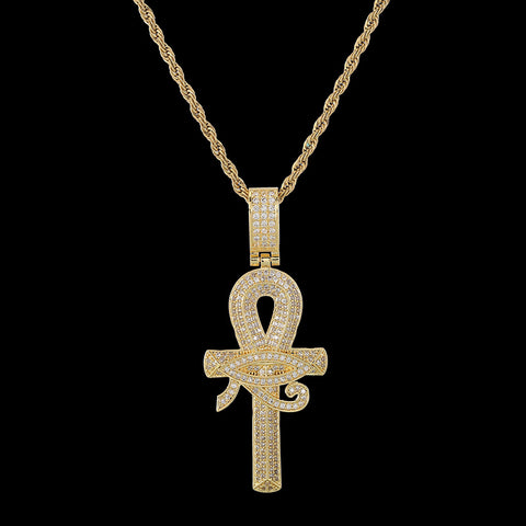 Eye of Horus & Ankh Pendant