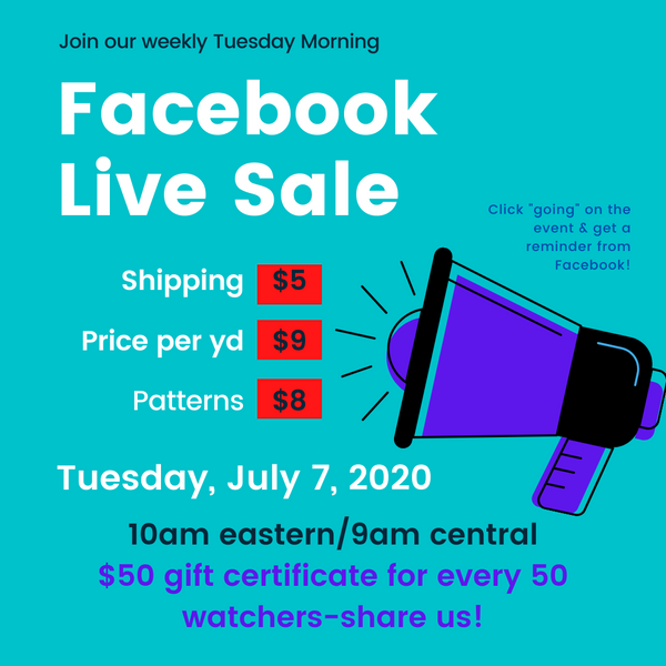 Don't Miss This Week's Live Sale