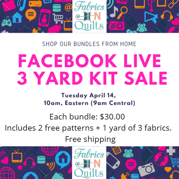 Facebook Live Sale April 14th 9am CDT
