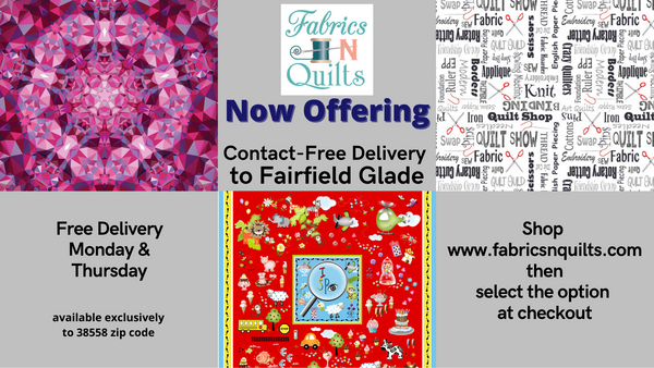 Now offering FREE DELIVERY to Fairfield Glade