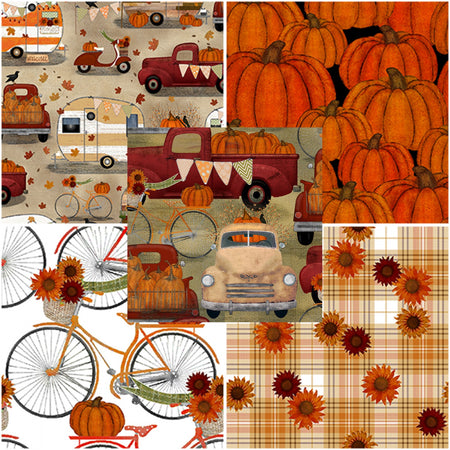 Harvest Campers, 3 Wishes Fabric