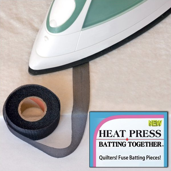 Heat Press Batting Together .75in Black 10 yards - Fabrics N Quilts