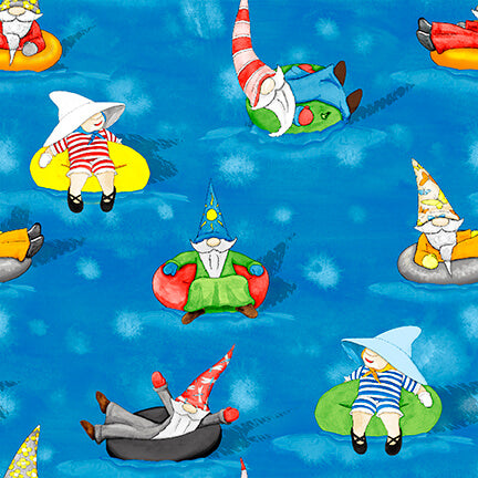 Hangin With My Gnomies Waterpark Gnomes 1446-75 - Fabrics N Quilts
