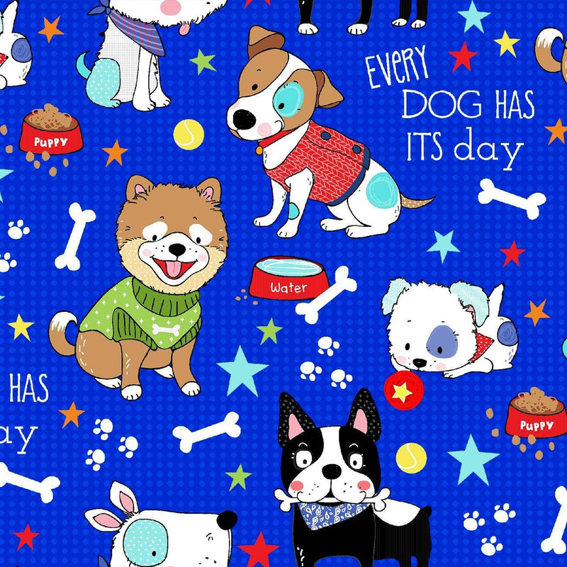 Dog Days 16013 Royal - Fabrics N Quilts