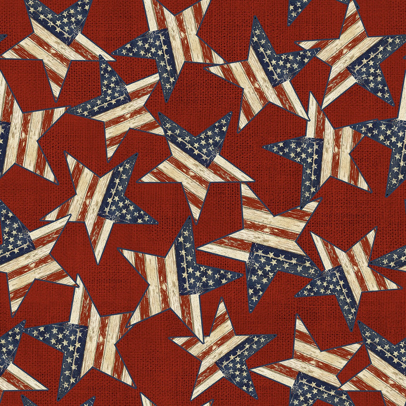 Patriotic Summer Red Stars, 17344-RED