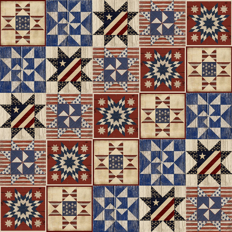 Patriotic Summer Multi Quilts Barn Blocks, 17349-MLT
