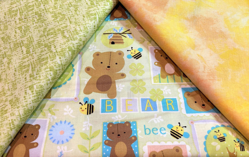 3 Yard Quilt Kit - Bears and Bees - Fabrics N Quilts