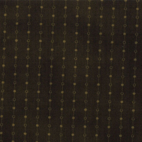 Primitive Gatherings Favorites Hunter 1060-26 Dotted Stripe Dark Green - Fabrics N Quilts