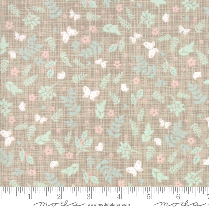 Wonder Pebble 13192-17 Novelty Garden Taupe Grey - Fabrics N Quilts