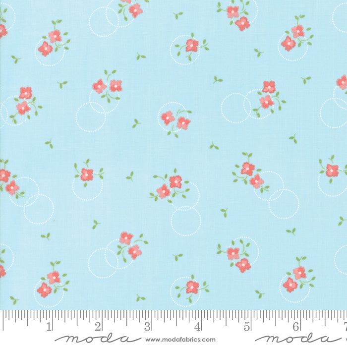 Sugarcreek Sky 29072-18 Modern Floral Flower Girl Light Blue - Fabrics N Quilts
