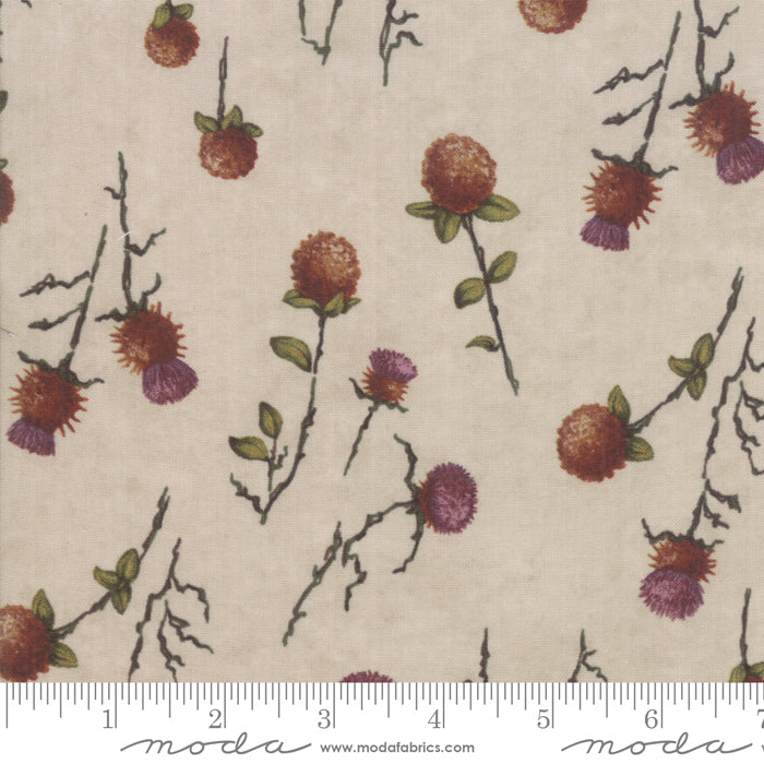 Country Charm Oat 6792-12 Thistle Clover Tan - Fabrics N Quilts