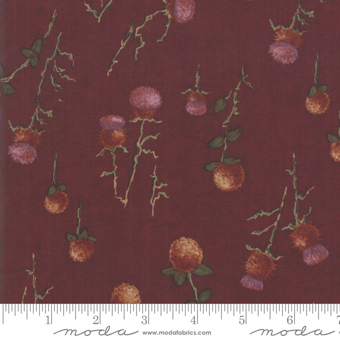 Country Charm Rustic Red 6792-13 Thistle Clover - Fabrics N Quilts