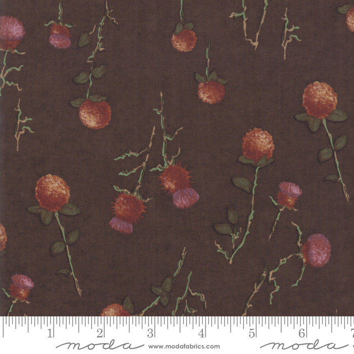 Country Charm Barnwood 6792-17 Thistle Clover Brown - Fabrics N Quilts