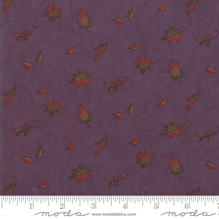 Country Charm Thistle 6793-11 Falling Leaves Purple - Fabrics N Quilts