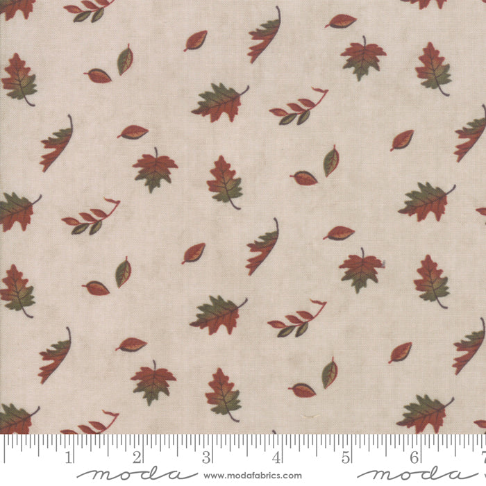 Country Charm Oat 6793-12 Falling Leaves Tan - Fabrics N Quilts