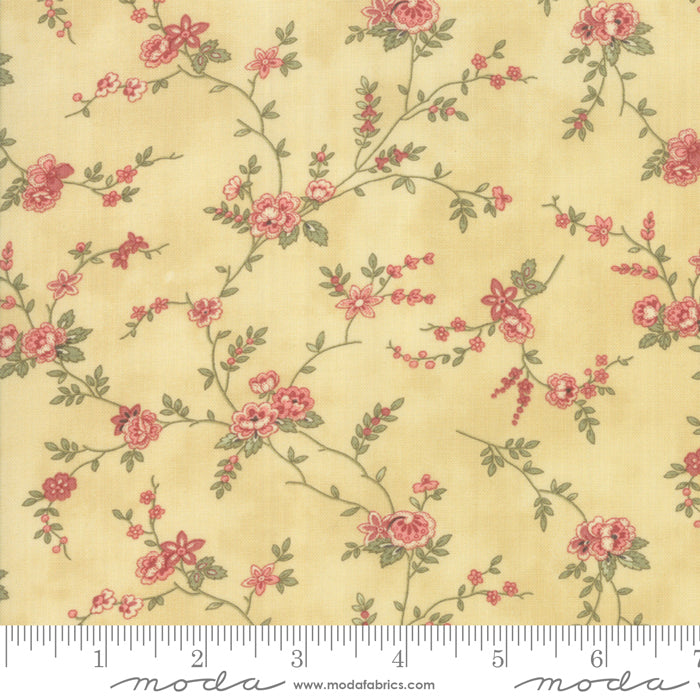Memoirs Gold Floral Vine 44213-17 - Fabrics N Quilts
