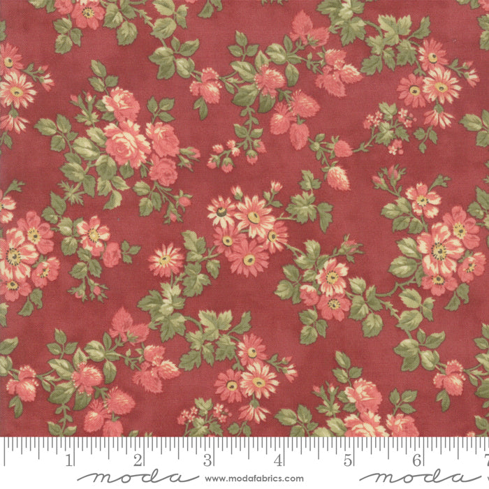 Memoirs Rust Flower Cluster 44214-15 - Fabrics N Quilts