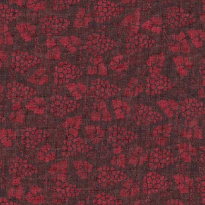 Quilters Cupboard 1912-04, Grapes Garnet Red - Fabrics N Quilts