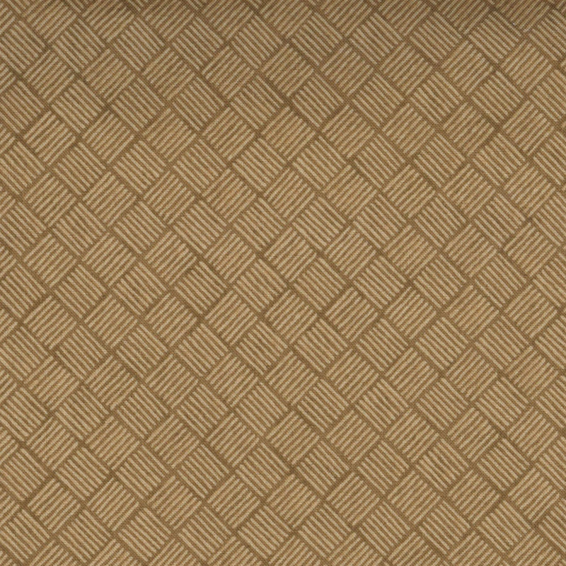 Quilters Cupboard 1915-01, Crosshatch Canyon Brown - Fabrics N Quilts