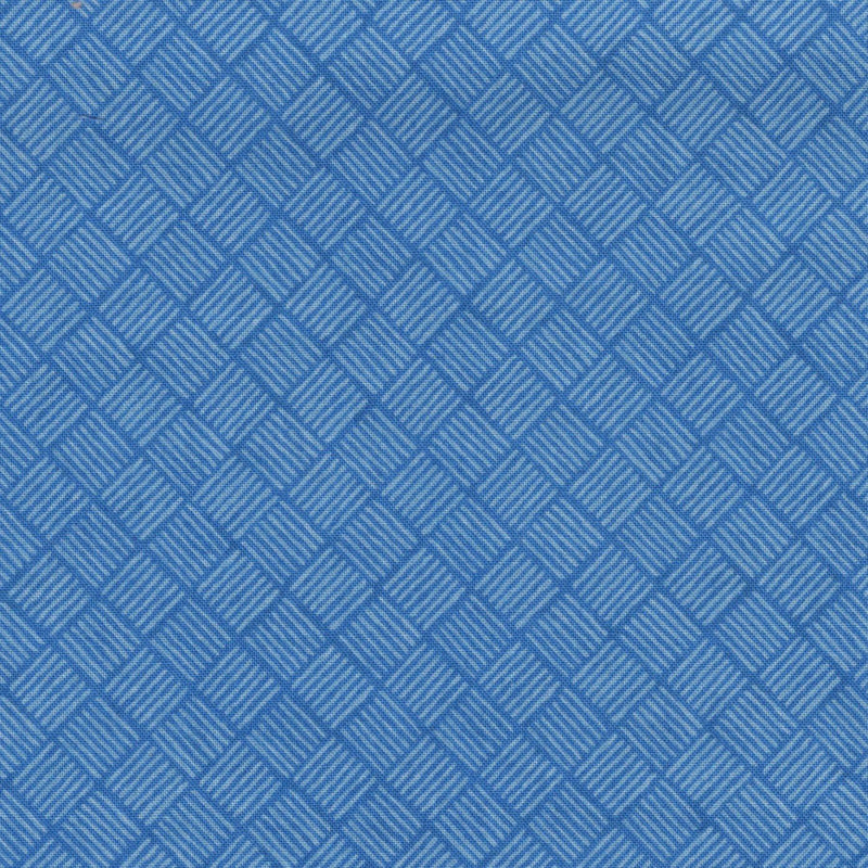 Quilters Cupboard 1915-04, Crosshatch Cascade Blue - Fabrics N Quilts
