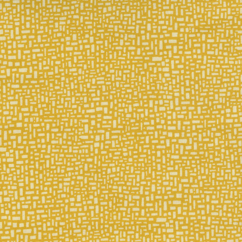 Quilters Cupboard 1916-03, Rectangles Glow Yellow - Fabrics N Quilts