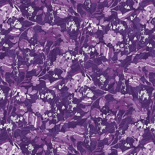 Pearl Luxe II 1930-55P Marble Floral Purple - Fabrics N Quilts