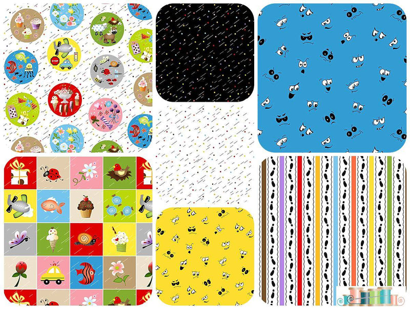I Spy, Henry Glass - 7 Fat Quarter Bundle - Fabrics N Quilts