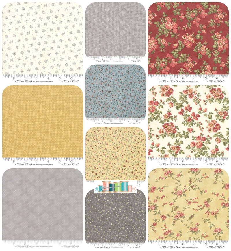 Memoirs, 3 Sisters Moda 10 Fat Quarter Bundle - Fabrics N Quilts