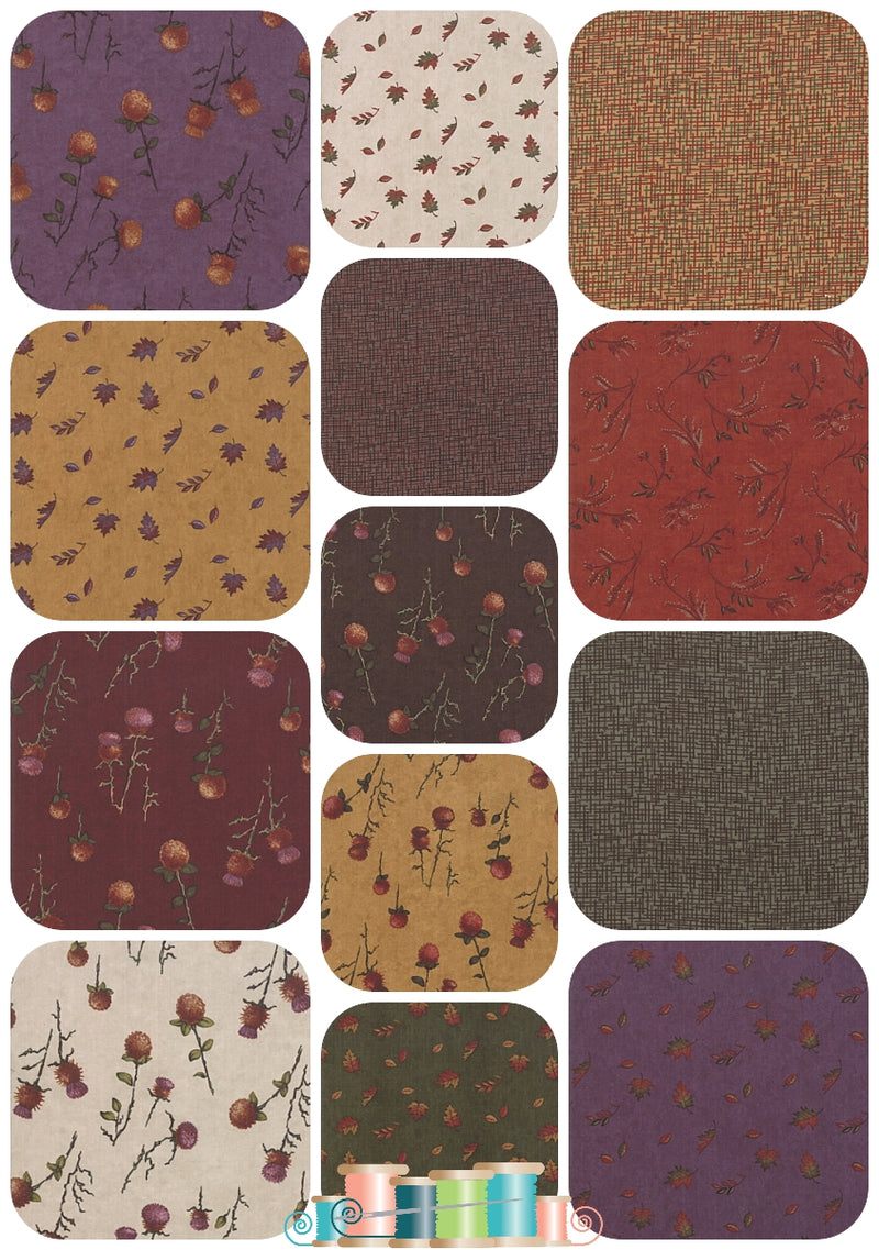 Moda Country Charm 13 Fat Quarter Bundle, Holly Taylor - Fabrics N Quilts