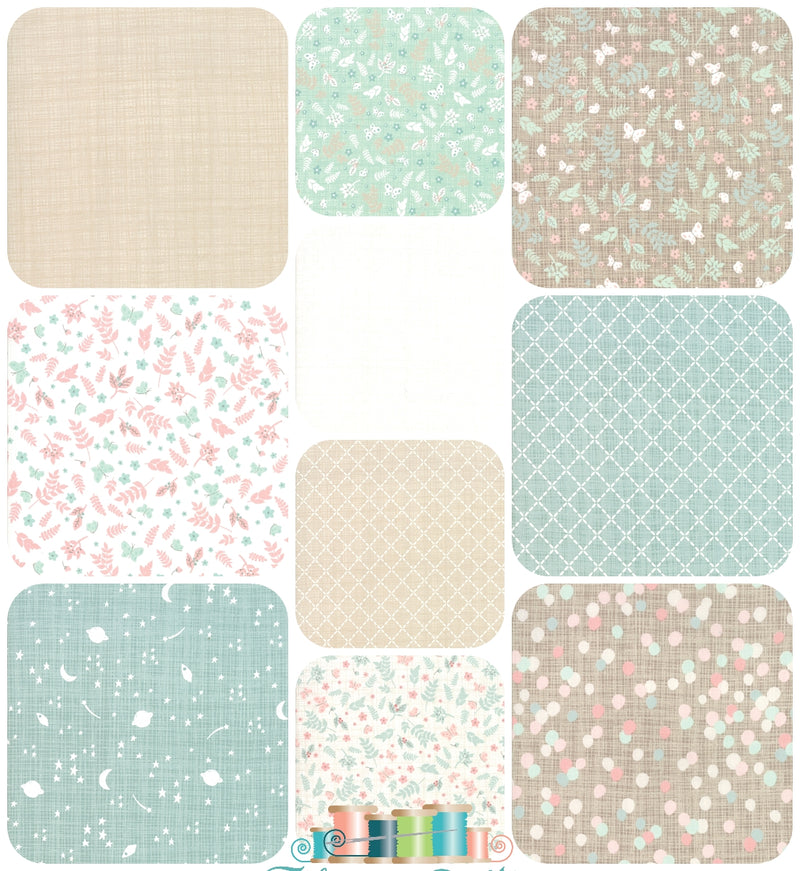Moda Wonder 10 Fat Quarter Bundle, Kate & Birdie Paper Co - Fabrics N Quilts