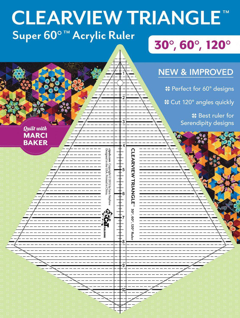 Clearview Super 60 degree Quilt Ruler - Fabrics N Quilts